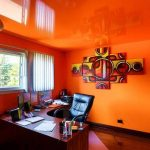 orange-home-office-modern-home-wall-colors